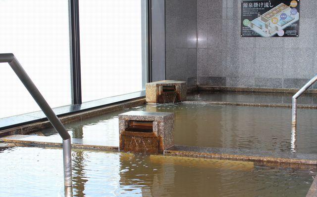 源泉かけ流し主浴槽・副浴槽