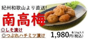 ~新発売・南高梅~